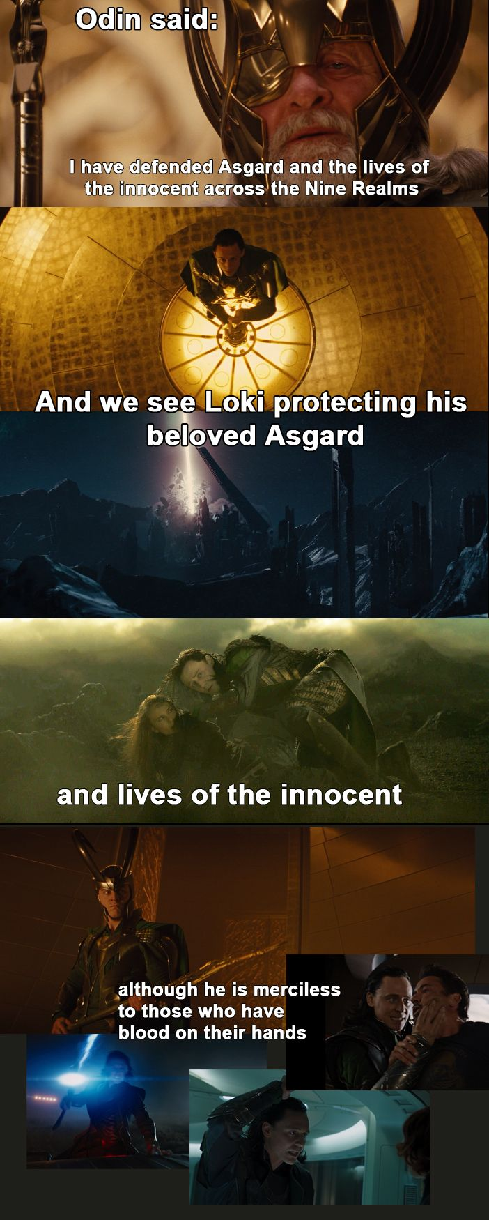 Although a lot of innocent people did get hurt/killed in the New York attack. Personally I believe the theories that say the New York attack wasn't Loki's choice and that he was made to do it so I don't hold New York against him.