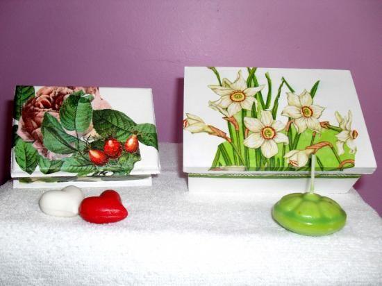 Cajas de madera decoradas pintadas y en decoupage - Cajas de madera decoradas ...