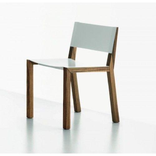 Pepper sedia in legno e acciaio di Miniforms
