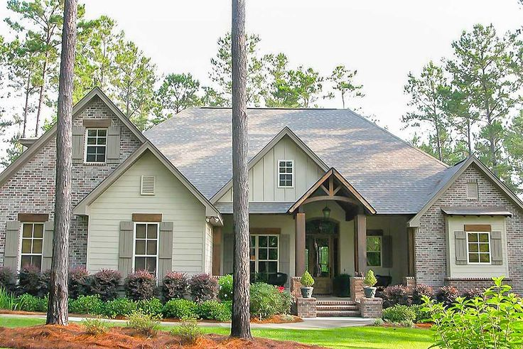 2597 sq ft Plan 51746HZ: Craftsman House Plan with Rustic Exterior and Bonus Above the Garage