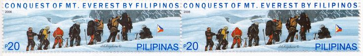 Philippines.  ASCENT TO MT. EVEREST BY FILIPINO CLIMBERS.  3072 A982, Issued 2006 Nov 23, Perf. 13 3/4, 20p. /ldb.