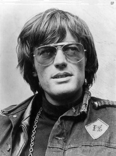 """Peter Fonda-we have the same birthdate, February 23rd!  Groovy pic-from """"Easy Rider"""" perhaps?"""