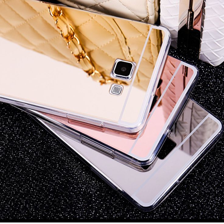 A310 A510 A710 Case Rose Gold  Luxury Clear Mirror Phone Cases For Samsung Galaxy A3 A5 A7 2016 Soft TPU Back Cover
