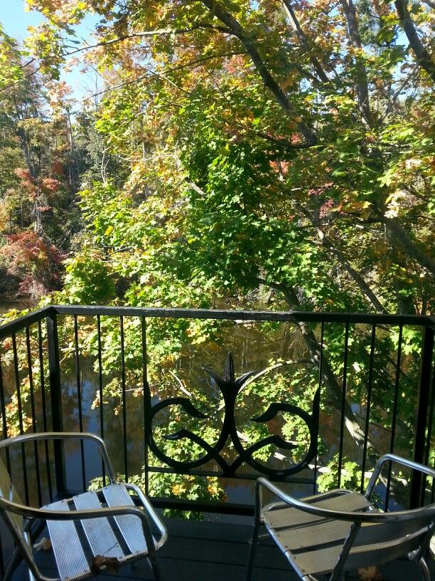 View from a guest room at the Gledhill building at Benmiller Inn