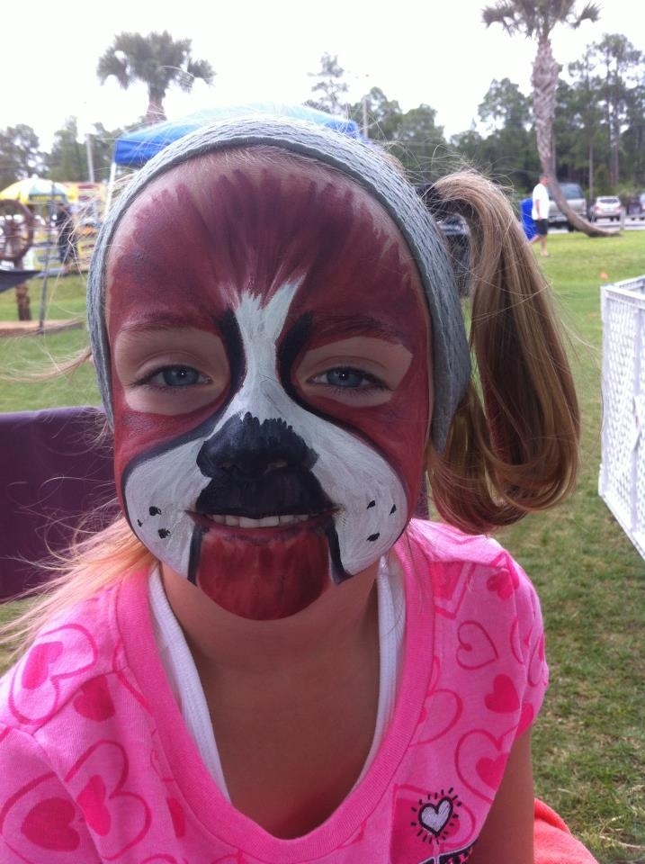 BOXER DOG FACE PAINT FACEBODY DONE BY ME Pinterest