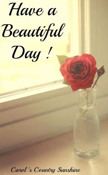 """""""Have a beautiful day!"""" via Carol's Country Sunshine on Facebook"""
