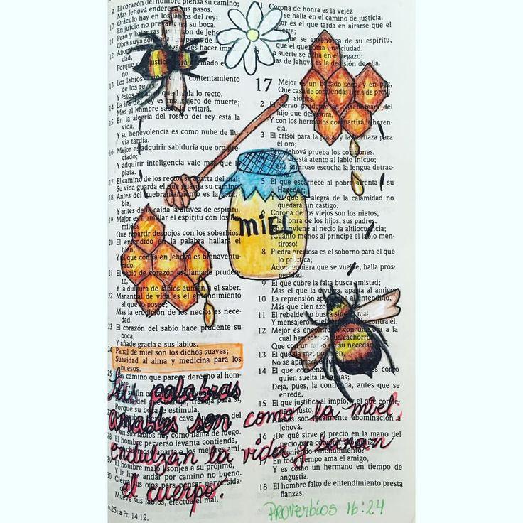 """27 Me gusta, 2 comentarios - Bibliabonita💛 (@bibliabonita) en Instagram: """"""""Las palabras amables son como la miel: endulzan la vida y sanan el cuerpo."""" #Proverbios 16:24…"""""""