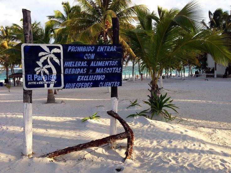 "Playa ""privada"" de Tulum #mexico"