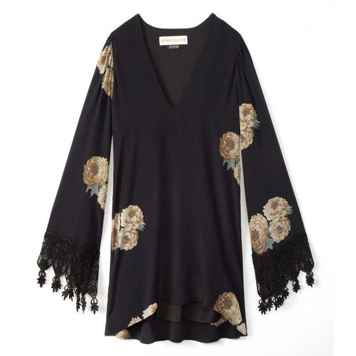 Stone Cold Fox Boardwalk Dress - Black Floral Dress - ShopBAZAAR