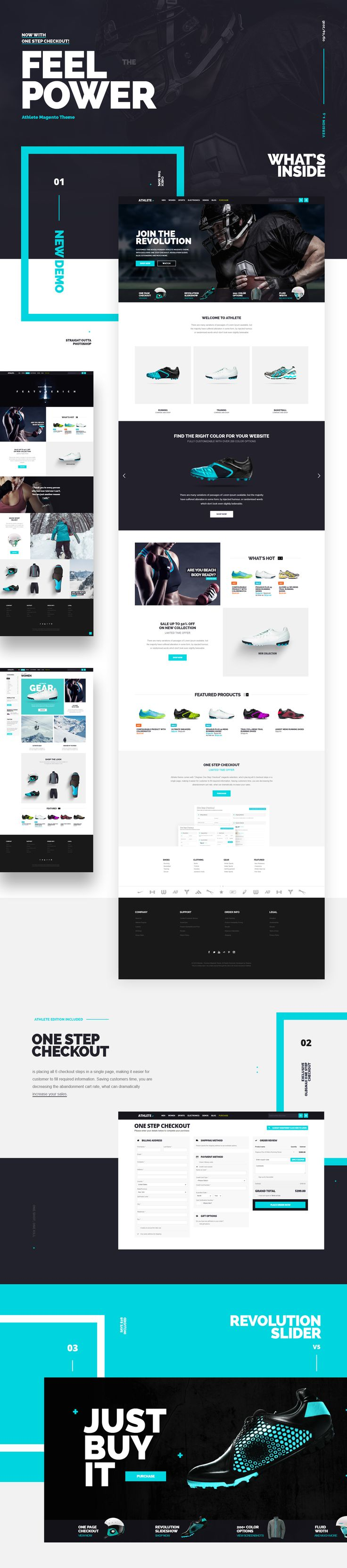 Feel The Power! Athlete - Fluid Responsive Magento Theme. Besides the tons of…