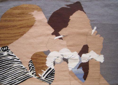 "Erin M. Riley ""Gateway Drugs"" tapestry"