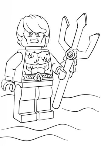 Lego Aquaman Coloring Pages Printable And Book To Print For Free Find More Online Kids Adults Of