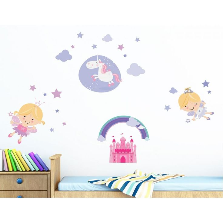 Νεράιδες διακοσμητικά παιδικά αυτοκόλλητα τοίχου επανατοποθετούμενα L μέγεθος