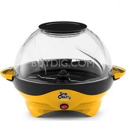Give the Big Game a whole new meaning with the West Bend 82310Y Stir Crazy 2 Popcorn Popper. Pops up to six quarts of delicious popcorn at once, enough to treat the whole family! When you say super we say bowl!