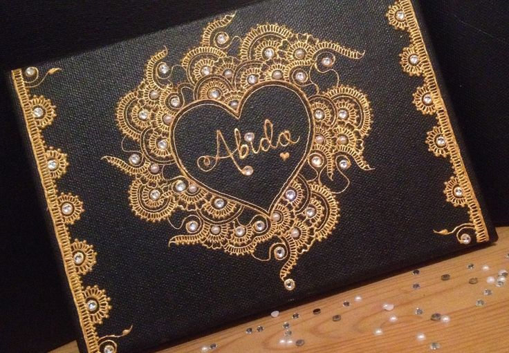Contact me for personalised henna candles and canvases tailored to suit any colour theme or occasion ~ fbegum922@gmail.com