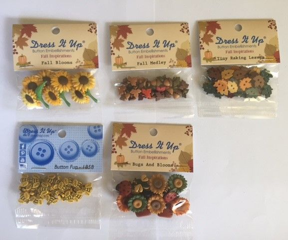 Autumn Buttons Bundle 5 Packets of buttons for $30 (inc postage) You save $6