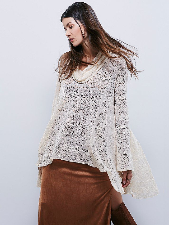 Free People Rain Fall Cowl Neck Pullover, руб9332.20