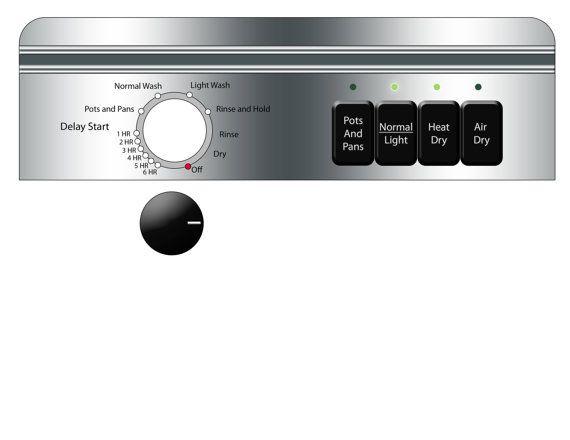 T l chargement num rique lave vaisselle autocollant par for Accessoires maison barbie