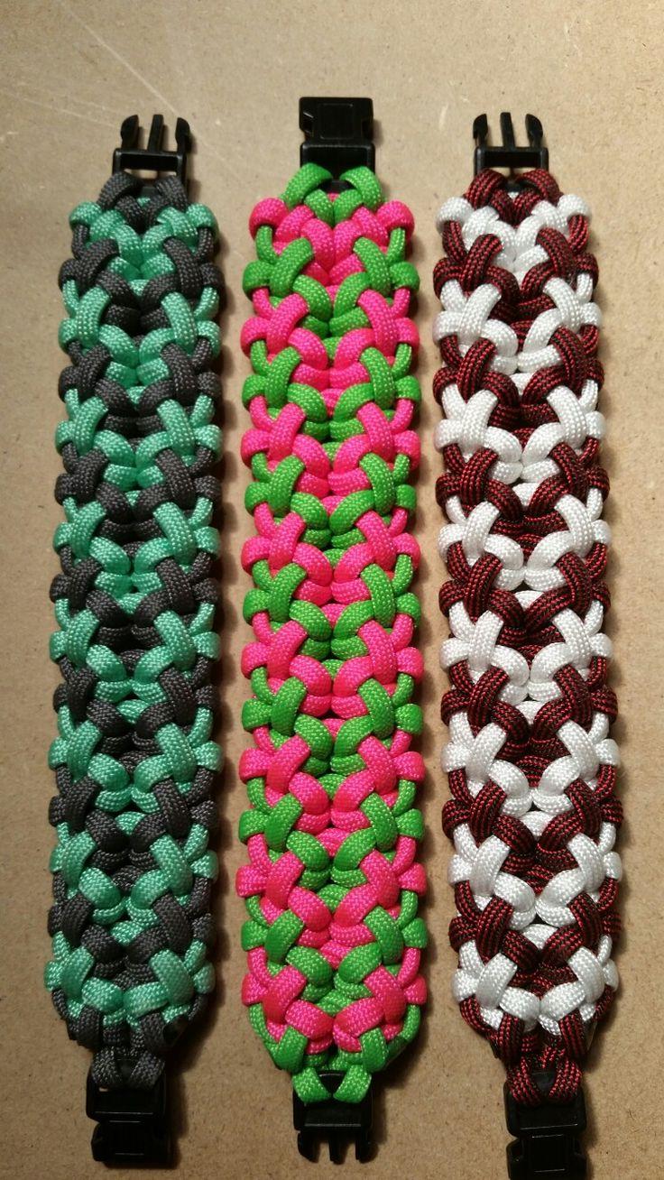 """Tropical Delights"" Paracord Bracelet.  Design by Jason Lake."