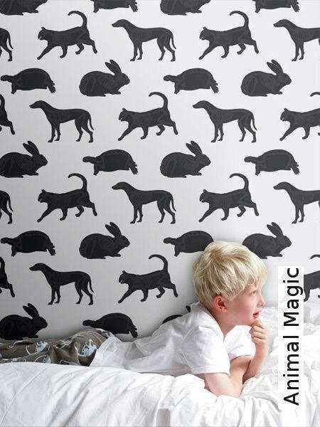 Gestreifte Tapeten Schwarz Wei? : Tapete: Animal Magic – TapetenAgentur