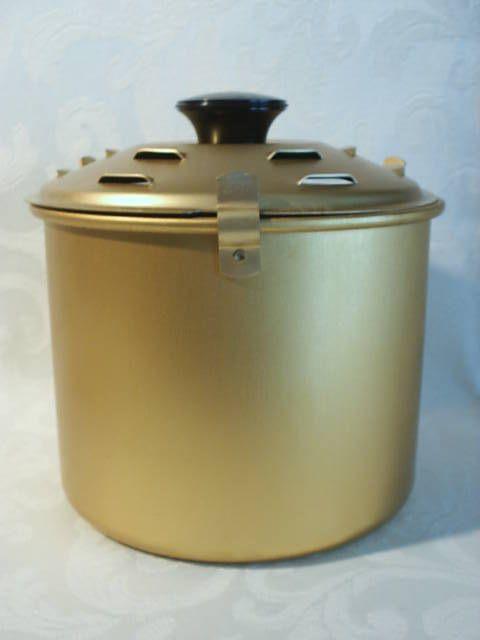 Vintage Rival Crock Pot Bread N Cake Aluminum Baking Pot With Recipe Sheets #Rival