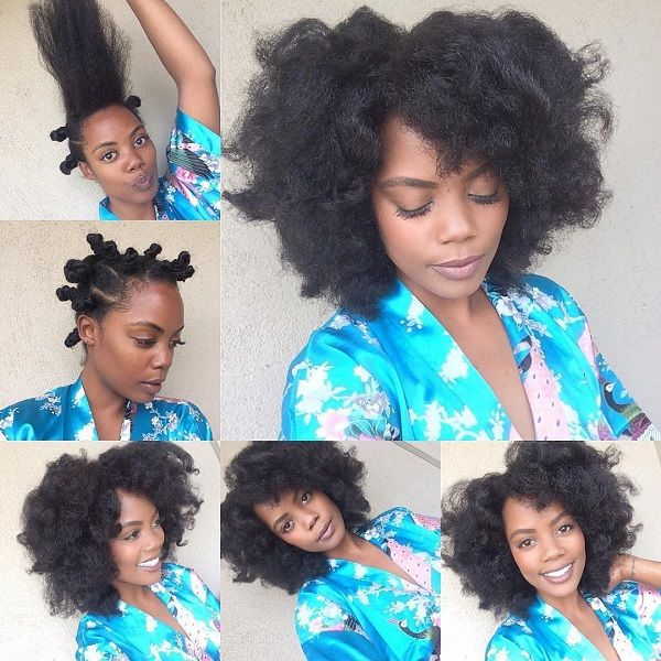 fluffy afro protective summer natural 4c hairstyle