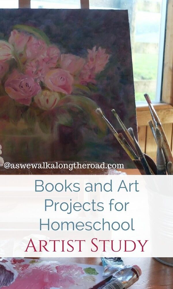 Great Artists Books and Art Projects #homeschool #art