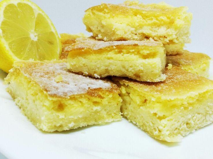 Citrónové rezy z kokosovej múky - rýchly a osviežujúci koláč bez lepku a bez mlieka