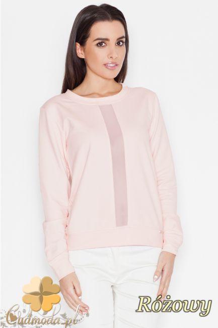 Bluzka z pionową wstawką na przodzie marki Katrus.  #cudmoda #moda #ubrania #odzież #styl #clothes #bluzki