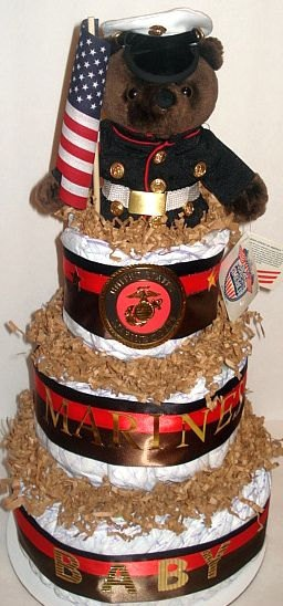 Military Diaper Cakes / Army Navy Air Force & by RainbowShowers, $55.00