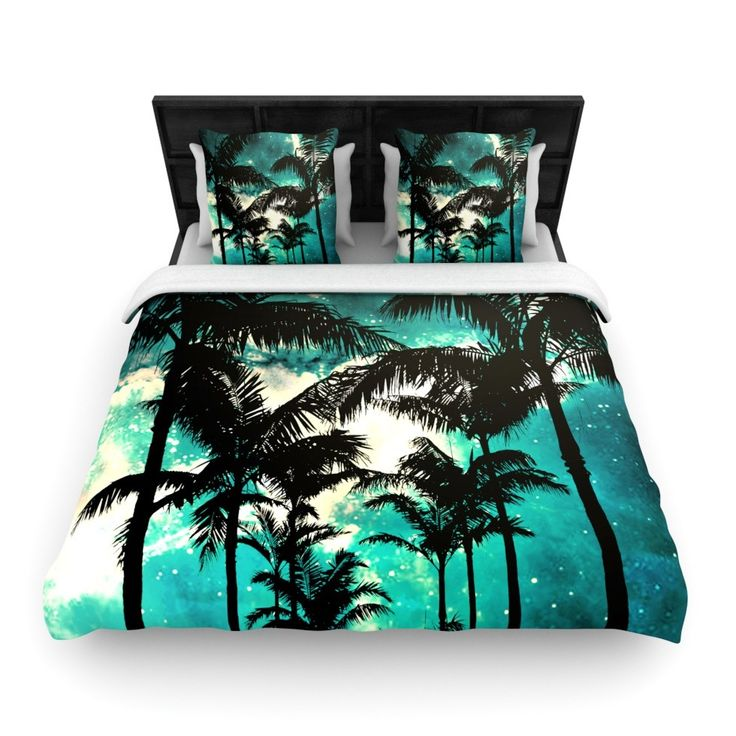 Palm Trees and Stars Woven Comforter Duvet Cover