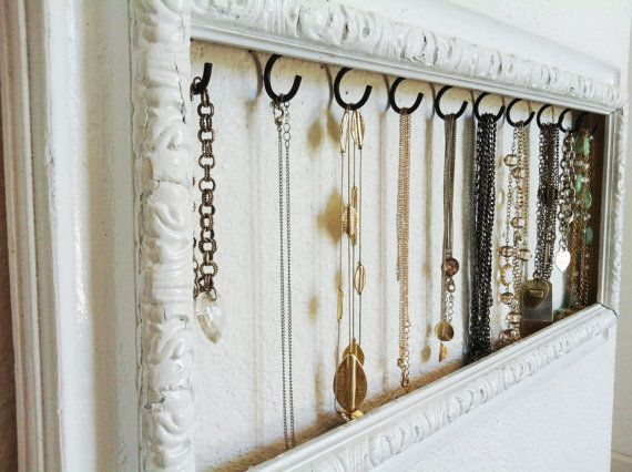 Super cooool!! Vintage White Jewelry Display by AfterTheLeavesFall on Etsy