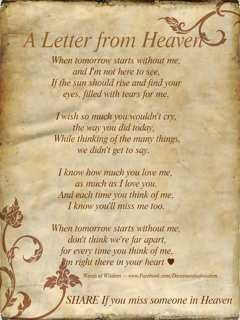 Wisdom To Inspire The Soul: A Letter From Heaven