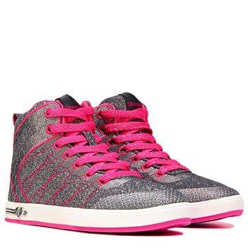 Shell love to show off the Shoutouts Glitzy Ritz Sneaker from Skechers.Metallic…