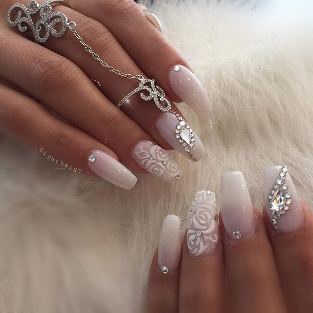 494 best Nails curly & flowery images on Pinterest | Fingernail ...
