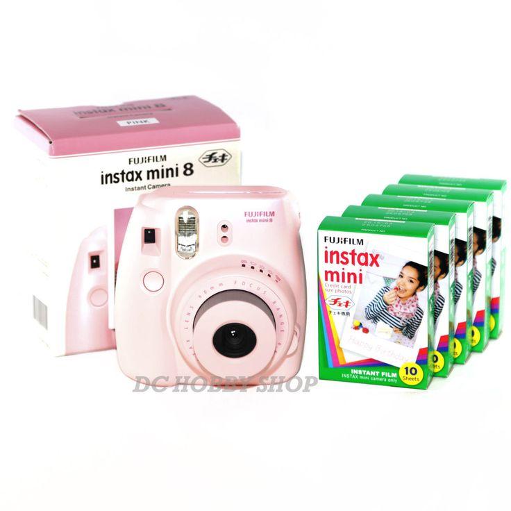 Fuji instax mini 8 pink Fujifilm instant Polaroid camera + 50 film
