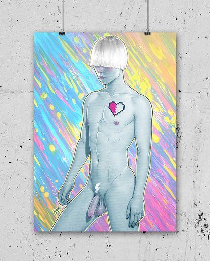 ARTWORK ISMAEL ÁLVAREZ – PRINT IA03  15,00€  Dimensioni stampa  32 x 45 cm  Cartoncino Usomano ( Color Copy da 200 gr )  Stampa digitale, numerata e timbrata T-Squirt sul retro.