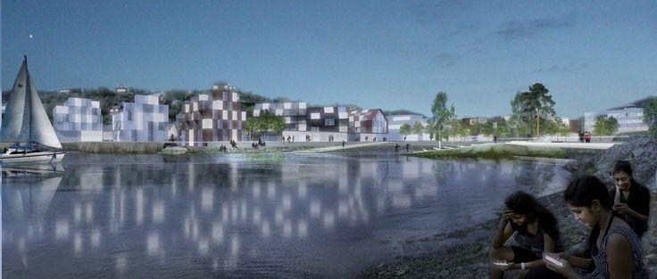 Osøyro, a rural town that is sprawling fast