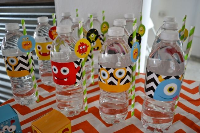 Monster Themed Boys Birthday Bash Drink Ideas