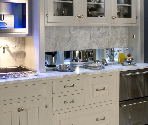 Pull Down Kitchen Cabinets: Hide Appliances Behind Pull-down Partition!