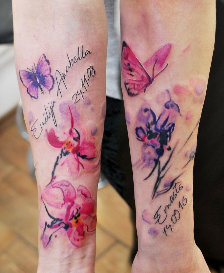 Watercolor Flower Moth Tattoo My Precious Ink: 17 Best Images About Flower Tattoo On Pinterest