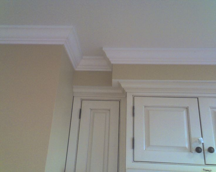The underside of the bulkhead is painted the same colour for Kitchen molding ideas