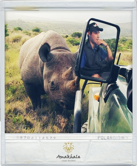 Ranger Andrew Pohlmann & Kapela framed together in this once in a lifetime photo.     { Photo by: Emily Stemmett - Amakhala Marketing Co-ordinator }