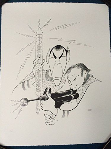 Al Hirschfeld Hand Signed Lithograph STAR TREK - Captain Kirk and Spock COA @ niftywarehouse.com #NiftyWarehouse #Geek #Gifts #Collectibles #Entertainment #Merch