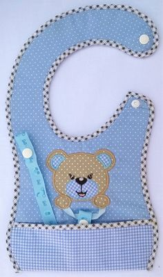 Image result for BIB WITH PACIFIER HOLDER PATTERN