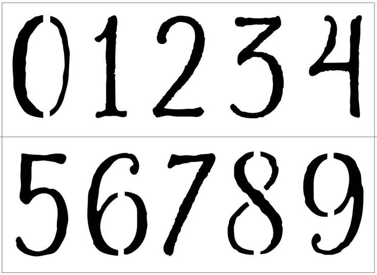 """Large Buckley Number stencils for birthday banners, house numbers, mailboxes and more! 3""""-9"""" Laser-cut stencils by PearlDesignStudio on Etsy"""