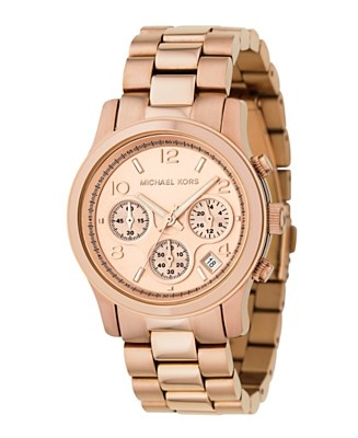 Michael Kors rose gold - favorite Christmas present   I love rose gold, am considering purchasing this watch. It's definately on my Macy's wish list.