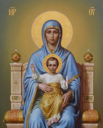 Богородица на престоле, иконописец Дмитрий Хомяков