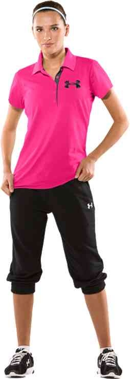 under armour women. under armour women\u0027s pip exploded logo short sleeve poloshirt women