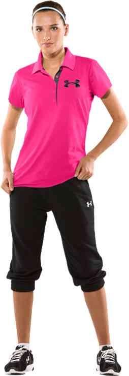 Women's PIP® Exploded Logo Short Sleeve Polo Shirt | Under Armour US